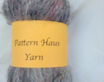 Yarn Brushed Mohair Gray and Lavender