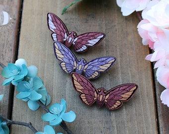 Cicada Love: Laser Cut Wood Pins