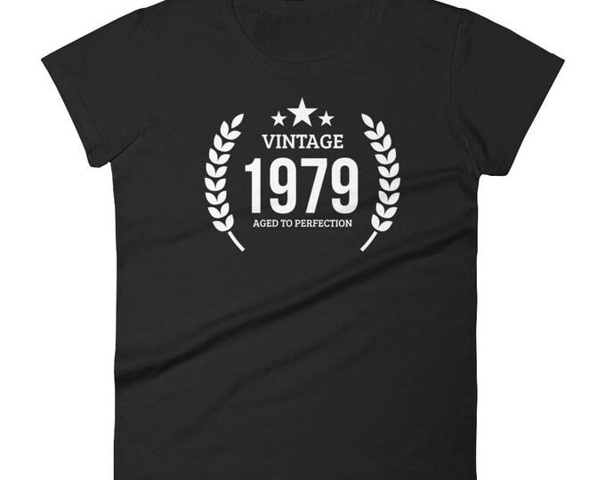 1979 Birthday Gift, Vintage Born in 1979 t-shirt for women, 39th Birthday shirt for her, Made in 1979 T-shirt, 39 Year Old Birthday Shirt