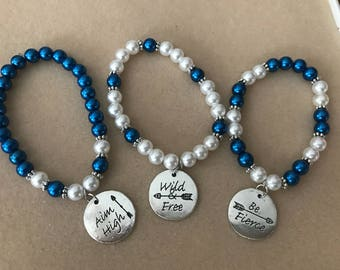3 matching bracelets, choose 1, 2 or take all 3. 7.50 buys 1 or buy all 3 for 20.00