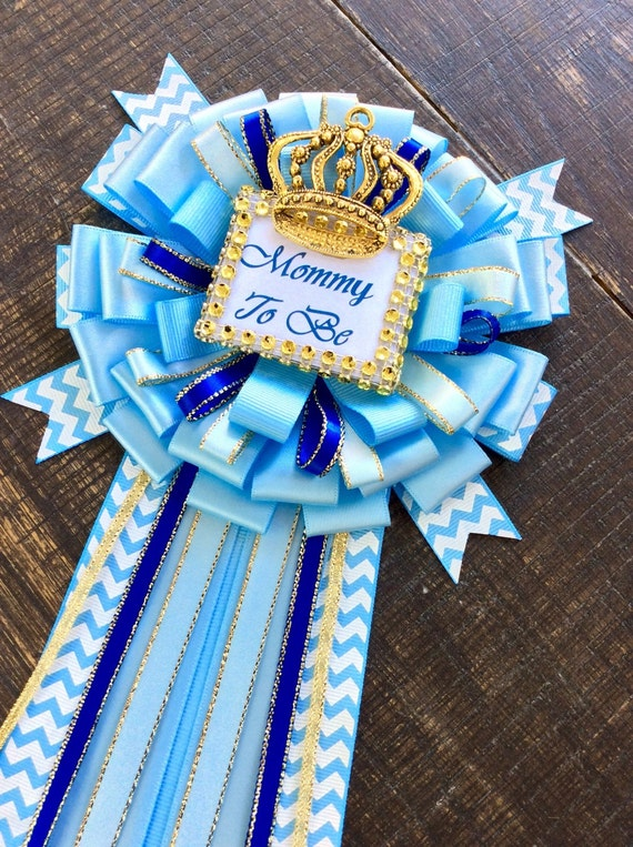 Amazing Royal Blue Baby Shower Mommy To Be Pin Little Prince