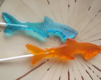 10 Shark Bite Attack Week Fish Ocean Lollipop Party Favor