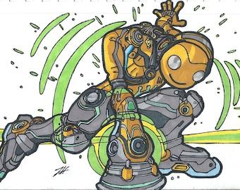 Overwatch Lucio 5.5x8.5 Print