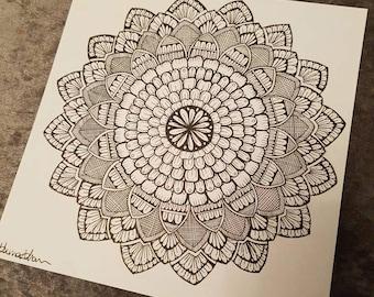 Impulse mandala drawing