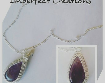 Silver Wire Wrapped Amethyst