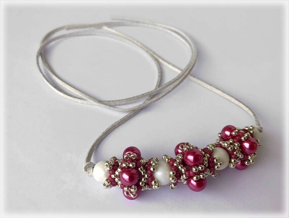 PinkyBerry necklace beading TUTORIAL