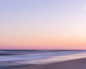 Abstract photography of the ocean at sunset, Beach art. Sunset beach.