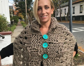Steiner Martin Fine Living Triple Threat Knit Shawl