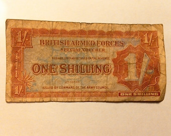 British Armed Forces ONE SHILLING 2nd SERIES special voucher 1940s