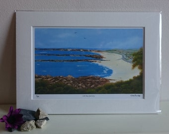 Cobo Bay, Guernsey - Limited Edition Print of Original Oil Painting by Nicki Burridge