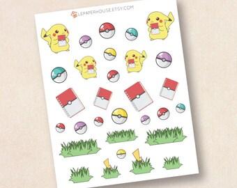 Pokemon Sticker, Matt oder glänzend-Planer-Aufkleber, Leben Planer Aufkleber, Erin Condren Filofax Mambi glücklich Planer