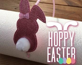 Hoppy Easter Bunny Headband or Hair Clip