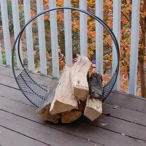 Metal Wood Log Holder, Log Holder, Firewood Holder, Metal Firewood Rack, Log