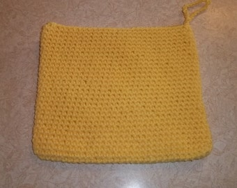 Potholder, trivet, yellow trivet, pot holder, hand protector