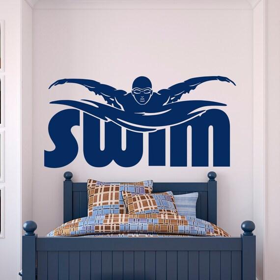 Sport parete decalcomania adesivi nuotata piscina nuotatore for Adesivi per piscine