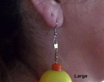 Unique Fishing Float Earrings