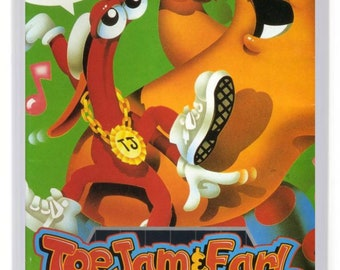 Toejam and Earl Fridge Magnet. Videogame Box Art.Megadrive