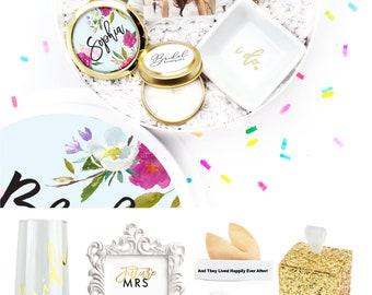 Bride Box - Engagement Gift for Bride - Future Mrs. Wedding Gift - Here Comes The Bride - Gift for Bride - Custom Gift Box - White Confetti