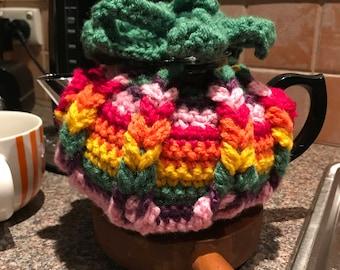 Hand made crocheted tea pot cozy