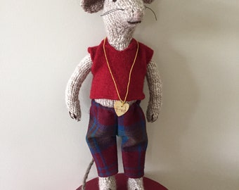Hand Knitted Mouse - Fred