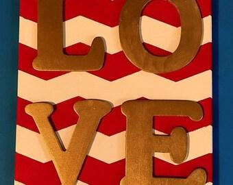 LOVE - Chevron Wall Hanging