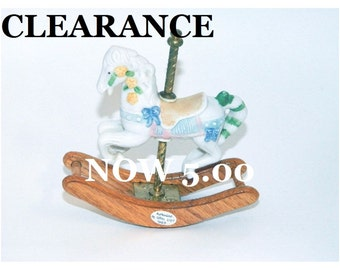 Vintage Carousel Rocking Horse Figurine - Authorized by Giftec - 1993 - CLEARANCE SALE
