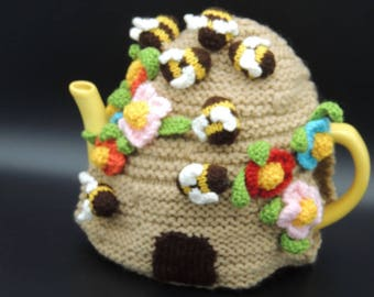 Beehive Teacosy. Hand-knitted