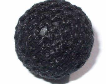 1 Pearl Cotton crochet black 20mm AR05NOI