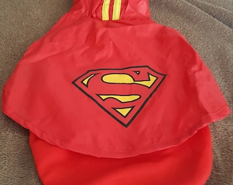 Super man dog suit