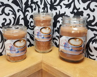 Cappuccino - 100% Soy Wood wick Candles