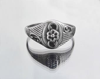 antique silver ring vintage design ring bohemian 925 sterling ring metal rings solitaire rings sterling silver ring vintage ring floral ring