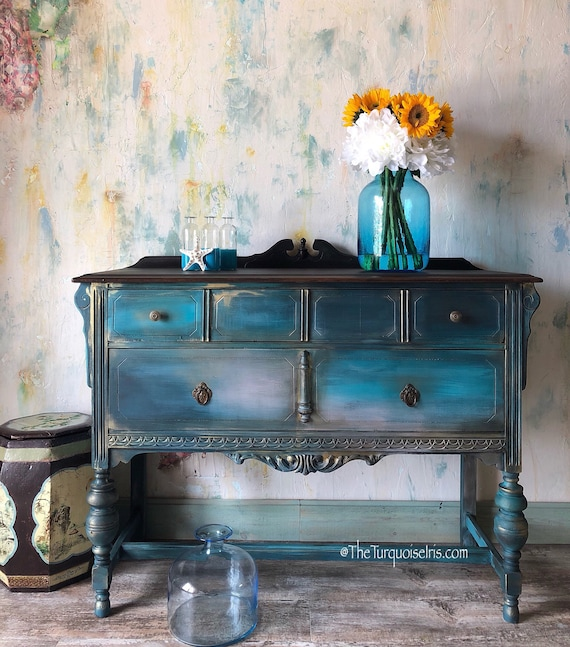 Bohemian Rustic Chic Buffet in Teal
