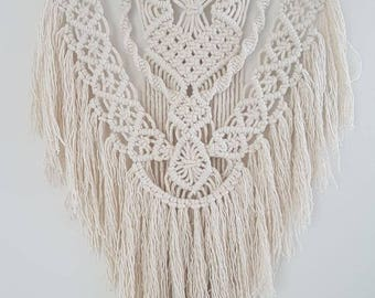 Modern Macrame Wall Hanging with a Boho Style Fringe - Gift, Nursery, Home Decor