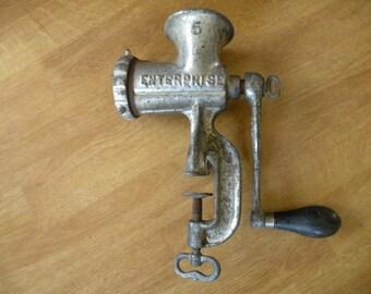 Vintage Meat grinder, Book end, clamp, vintage kitchen tools
