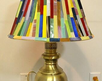 Glass Mosaic Lamp Shade With Base