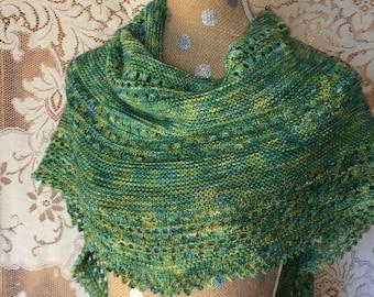 Shawl Scarf Women's Handknit Wool