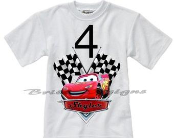 Disney Cars Shirt, Disney Cars Birthday Shirt, Personalized Disney Cars Birthday Shirts, Disney TShirt, Boys Birthday Shirts, Disney Shirts