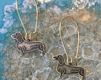 Dachshund Dog Puppy Earrings