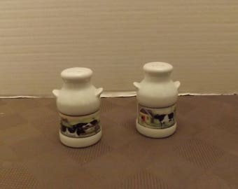 Milk Can with Dairy Cow Sticker/Label Salt & Pepper Shaker