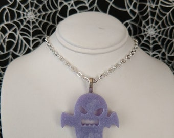 Resin Ghost Pendant, Lavender, 032
