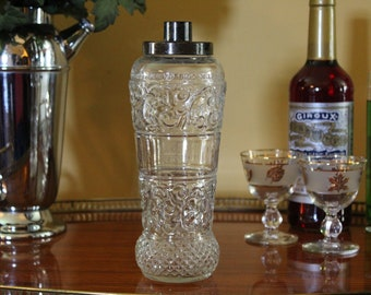 Vintage Liquor Decanter, Jim Beam Decanter, James Beam Bottle, Bonded Beam Decanter, Midcentury Whiskey Decanter, Western, Retro Barware