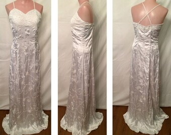 White Satin Gown #9518