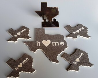 Custom Texas Drink Coasters