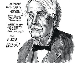 Thomas Edison Great American Inventor Poster Print