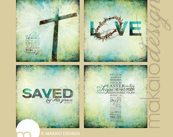 Choose 2 - Set of Christian Art Gallery Wrapped Canvas