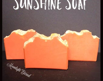 Sunshine Artisan Soap - Vegan Soap - Bar Soap - Handmade Soap - Grapefruit, Peach, Thyme