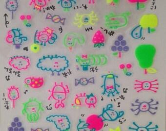 Japan kawaii INSECTS stikers sheet/Chima Chimark91446