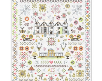 CROSS STITCH KIT Paradise Found by Riverdrift House