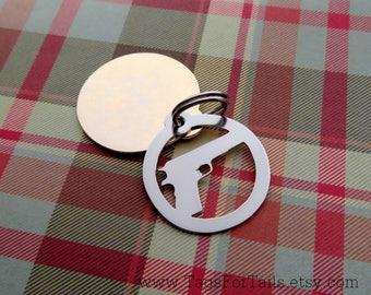 1911 Handgun Keychain or Pet Tag -  Custom & Handmade - conceal carry keychain
