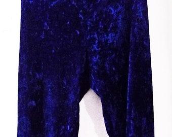 Betsey Johnson Blue Velvet Pants Medium